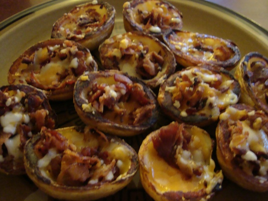 Finished Potato skins. ENJOY!