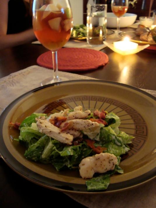 Caesar Salad and Sangria