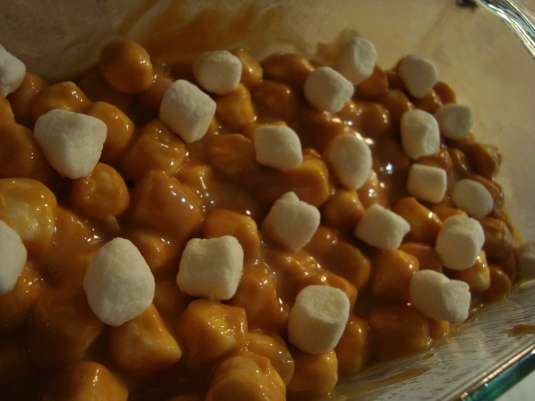 Peanut Butter, Butterscotch, Marshmallow Squares