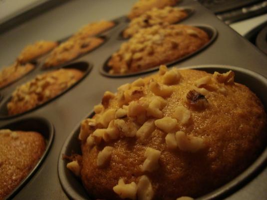 Milk Chocolate, Walnut, Banana Muffins