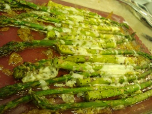 Asparagus with shredded asiago