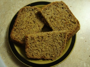 Delicious zucchini bread slices