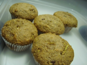 Delicious zicchini muffins