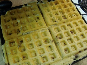 Yummy Chocolate Chip waffles